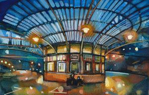 Evening-Lights-at-Wemyss-Bay-Station