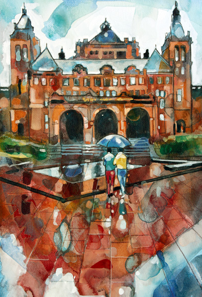 A Wet Afternoon At Kelvingrove Art Gallery