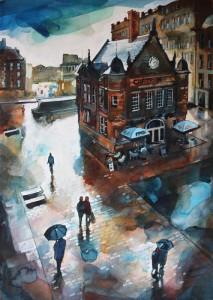 St Enoch Square in the Rain