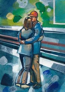 A Hug on Perth Station