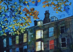 Evening Lights & Leaves