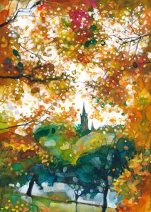 Through Autumn Leaves - Kelvingrove